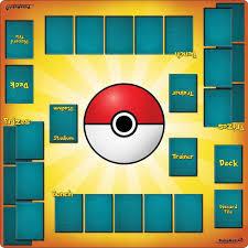 2 Người Chơi Pokemon Huấn Luyện Thảm Chơi 24X24 Cm Pokemon Thẻ Đối Đầu Bộ  bài Sưu Tầm Trò Chơi