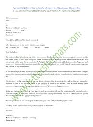 Sample Notice Letters Notice Letter To Society Members For Maintenance Charges Due Sample