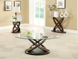 cappuccino glass occasional table set ca702788c