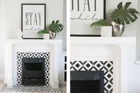 do it yourself hand painted tile funky moracean tile fireplace