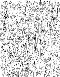 Small Picture 410 best Floral Coloring Pages for Adults images on Pinterest