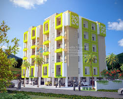 Modern Residential Apartments D Rendering Elevation Ary Studios - Modern apartment building elevations