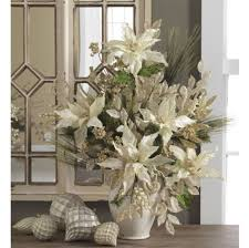 Image Poinsettia Totally Adorable White Christmas Floral Centerpieces Ideas 47 Round Decor 46 Totally Adorable White Christmas Floral Centerpieces Ideas