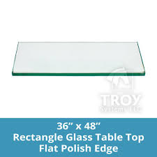 rectangle glass table top custom annealed clear tempered thick glass with flat polished edge eased corner for dining table coffee table home office