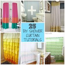 diy shower curtain ideas. Fine Diy 25 DIY Shower Curtains You Can Make  With Tutorials U Can Use 2 To Diy Curtain Ideas T