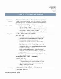 Resume Format For Experienced Staff Nurse Beautiful Nurse Resume