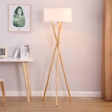 wooden tripod floor lamp floor standing tripod lamp goodly light gl flw015