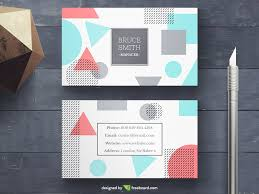 memphis business card psd template
