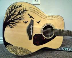 Guitar Body Paint Designs Sharpie By Shanna Cappel Totally Amazing 3 Acoustic
