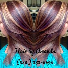 Red Brown Golden Blonde And Violet