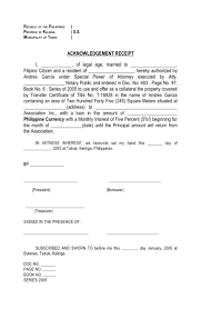 Acknowledgement Of Receipt Form Template Vawebs