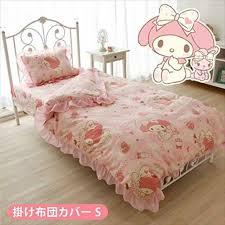 Blue music note hatsune miku kawaii japanese anime bedding. My Melody Bed Cover Double Full Comforter Sanrio Kawaii Hello Kitty Anime Japan For Sale Online Ebay