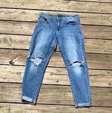 Black Light Wash Just Black Light Wash Distressed Jeans Not Depop