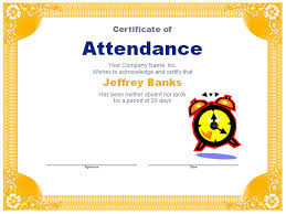 Attendance Award Template Attendance Award Template Blue Layouts