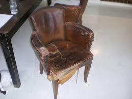 delightful art deco period original leather distressed