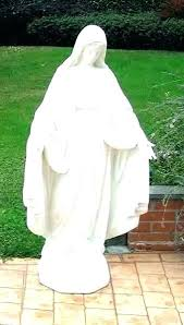 golf garden statues outdoor large religious statue lady of grace mother marble concrete in golf garden statues