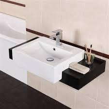 jocelina square semi recessed basin 52x43x16cm with recess 31 5 7 5cm