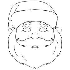 Disegno Di Maschera Da Babbo Natale Da Colorare Disegni Da