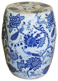 chinese blue white porcelain round