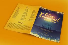 Christmas Program Templates Emmanuel Christmas Cantata Program Template On Behance