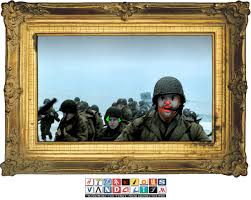 try not googling oil painting of circus clowns storming the beach at normandy vid via laughingsquid com