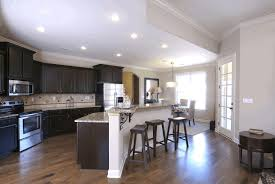 kitchen kitchens with dark wood cabinets light brown wooden counter classy white hooded ceiling lamp fancy