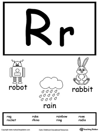 Flash Card Template Simple Letter R Printable Alphabet Flash Cards For Preschoolers