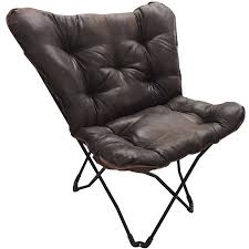 chair walmart. mainstays soft faux-leather butterfly chair - brown walmart