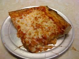 square cheese pizza slice. Delighful Pizza A Typical New York Sicilian Slice To Square Cheese Pizza Slice