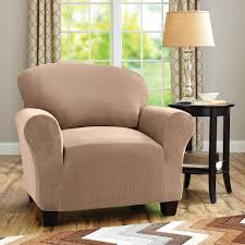 remarkable stylish single brown club chair slipcovers and adorable curtain