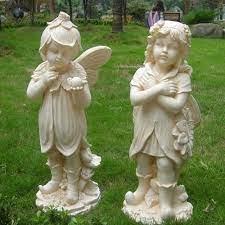 little angels garden statue porcelain