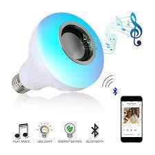 Plextone E27 Wireless Bluetooth Speaker 12w Rgb Bulb Led Lamp 110v 220v Smart Led Light Music Player Audio With Remote Control