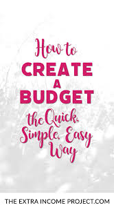 Project On Family Budget For A Month How To Create A Budget The Quick Simple Easy Way