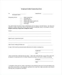 Free Menu Templates For Microsoft Word New Employee Counseling Form Template Documenting Behavior Write Up 48