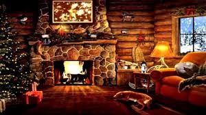 log cabin cozy fireplace snow outside time at last you