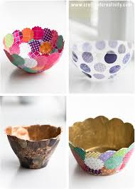 Small Picture 47 Fun Pinterest Crafts That Arent Impossible Paper bowls Diy