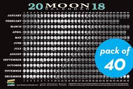 Buy 2018 Moon Calendar Card 40 Pack Lunar Phases