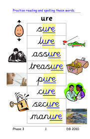 Share this page to google classroom. Phase 3 Ure Grapheme As In Sure Treasure 4 Activities And Powerpoint Of Words Teaching Resources