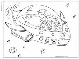 Small Picture Alien in Spaceship Coloring Page Crayon Action Coloring Pages