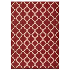 hampton bay trellis reversiblevineyard red  ft  in x  ft