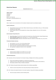 Sample Resume For Electrical Technician Inspiration 48 Electrician Resumes Samples Hospedagemdesites48