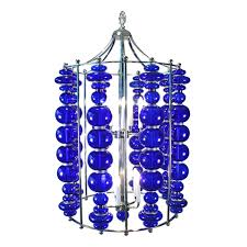 custom modern cobalt blue art glass 1stdibs chandelier fixture art deco decor