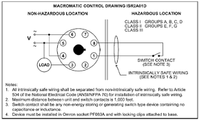 macromatic intrinsically safe relays ul control drawing isr2a01d