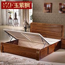 wooden furniture box beds. Elm Modern Minimalist All- Wood Bed 1.8 M High Pressure Double Storage Box Wooden Furniture Beds U