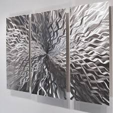 >metal wall decor ebay modern abstract metal wall sculpture art contemporary painting home decor silver