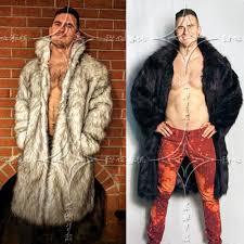2019 whole 2017 mens real fur coat north winter faux fur outwear windbreaker both side coat men punk parka jackets leather brand overcoats from