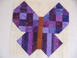 Canuck Quilter: RSC butterfly - purple edition & Purple scrappy butterfly quilt block Adamdwight.com