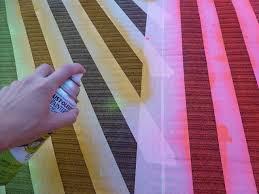 diy rug spray paint and tape