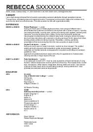 waiters and servers cv examples in london  lnd   livecareerrebecca s   waiters and servers cv   london  london