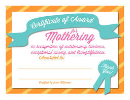 parenting certificate templates mothers day certificates the mormon home